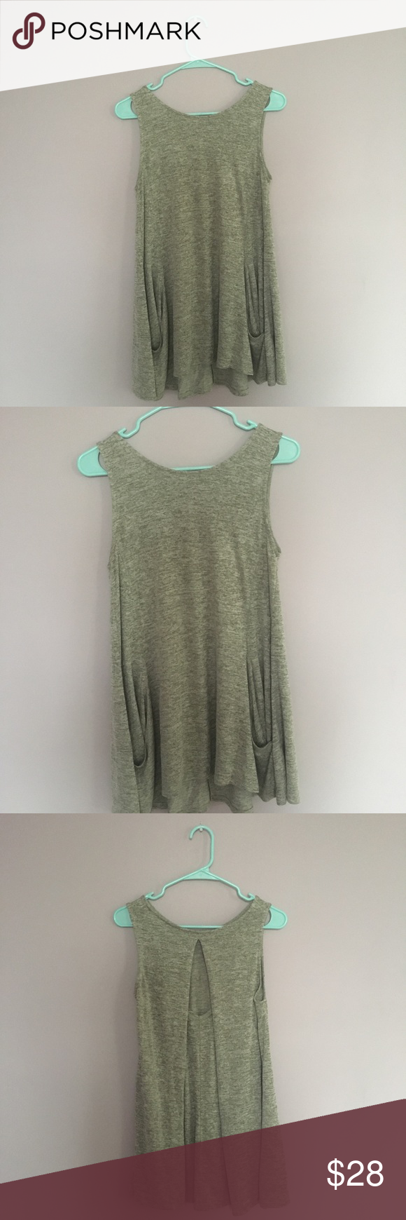 Maurices Green Open Back Top Maurices Green Open Back Top | Two-front pockets | Very soft and flowy fabric | In good condition- size medium | Maurices Tops