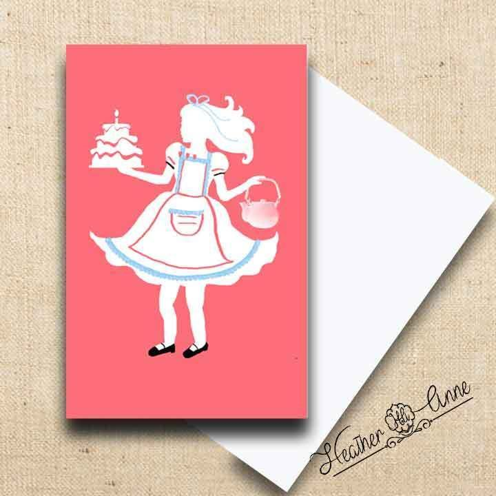 Greeting Cards and Gift Tags 146324: Greeting Cards Handmade Alice White Silhouette Notecards Artist Heather Anne -> BUY IT NOW ONLY: $30 on eBay!