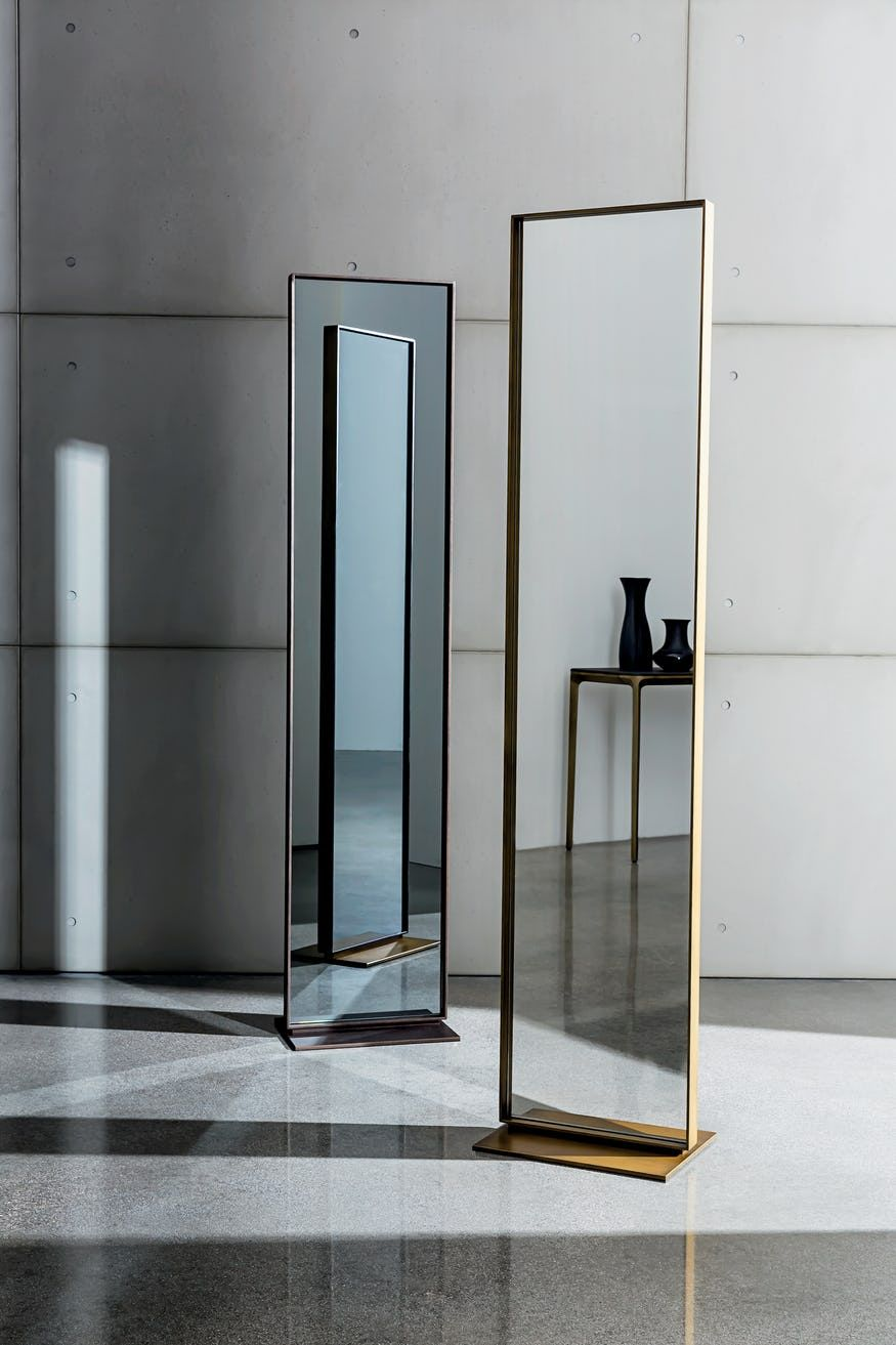 Freestanding Visual Mirror By Sovet Now Available At Haute Living Freestanding Mirrors Standing Mirror Industrial Mirrors