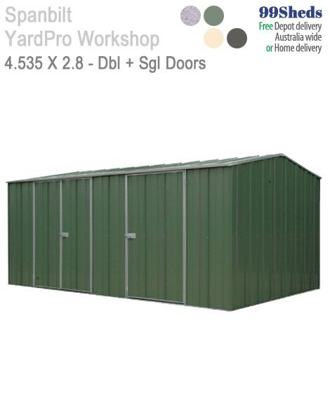 Yardpro 1510 Workshop 4 5m X 2 8m 3 Door Roof Architecture Patio Roof Roof Design