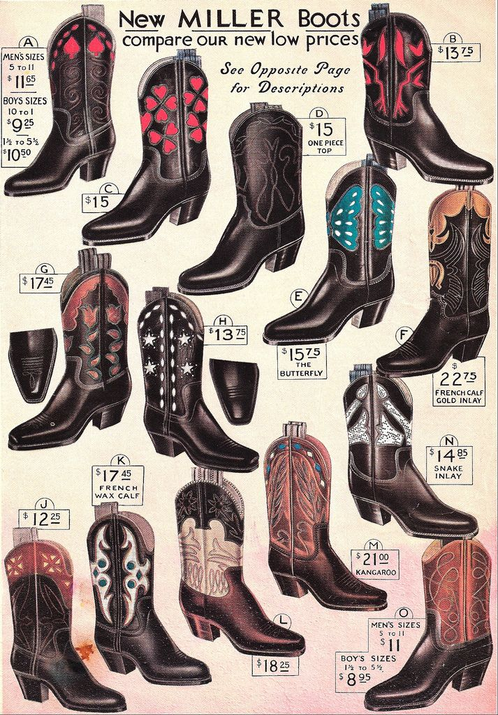 Vintage ad for Miller Boots - ♥♥♥! | Design: Line & Form ...