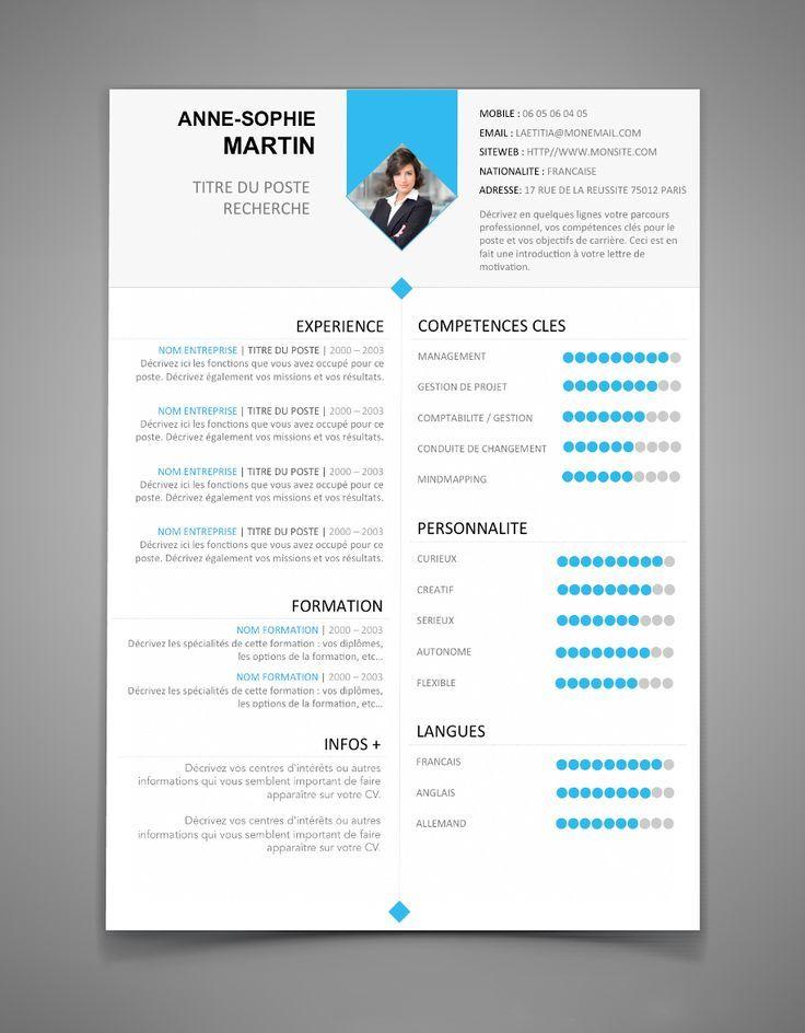 Image Result For Download Modeles Cv En Anglais Creatif Word Resume Examples Resume Design Good Resume Examples