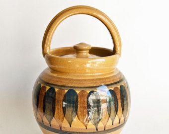 lillerød keramik Danish Studio Pottery Lillerod Biscuit Barrel   Maternity Jar  lillerød keramik