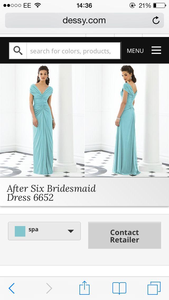 Bridesmaid dress dessy spa colour lux chiffon | Wedding ...