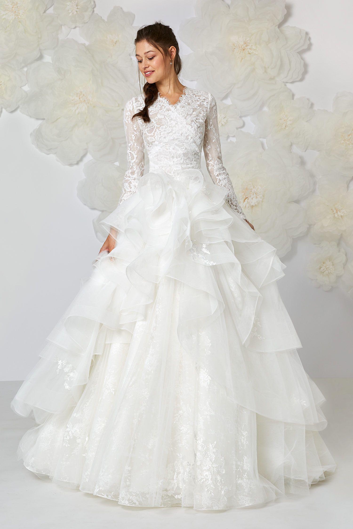 Lace wedding dress 2018 pinterest