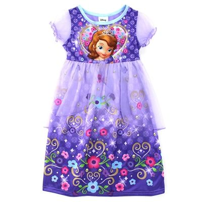 Sofia the First Girls Fantasy Gown Nightgown | Fantasy gowns, Disney ...