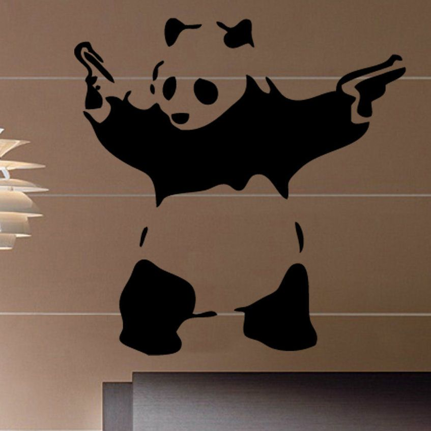 Banksy gangster panda wall decal