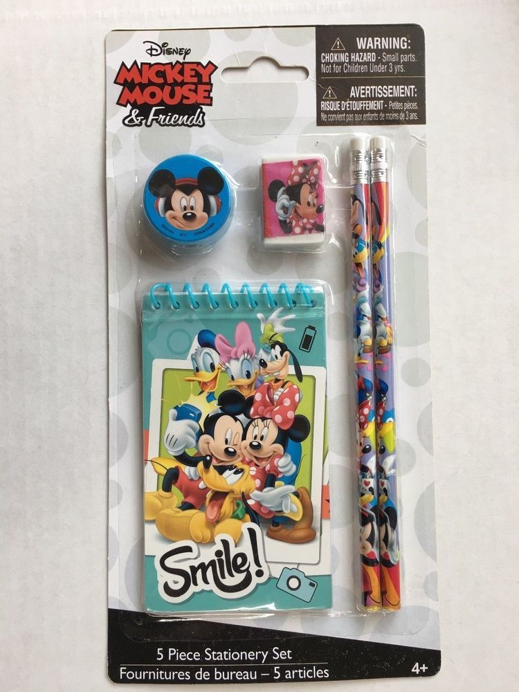 Disney mickey mouse and friends stationery child christmas