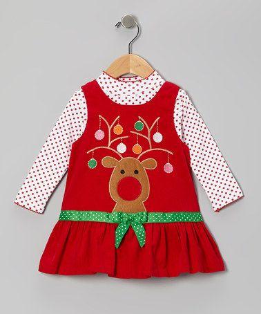 Take A Look At This Red Reindeer Corduroy Top Amp Jumper