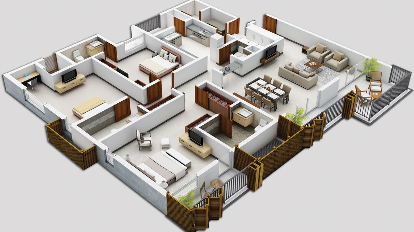 3d Home Designs This Is Probably The Best I Ve Seen You Can Make This A Reality 5 Bedroom House Plans Apartment Floor Plans Simple House Plans