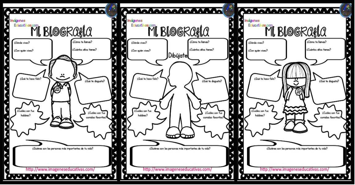 Autobiografía Para Niños Primaria Y Primer Grado Primeros Grados Organizadores Graficos Creativos Autobiografia