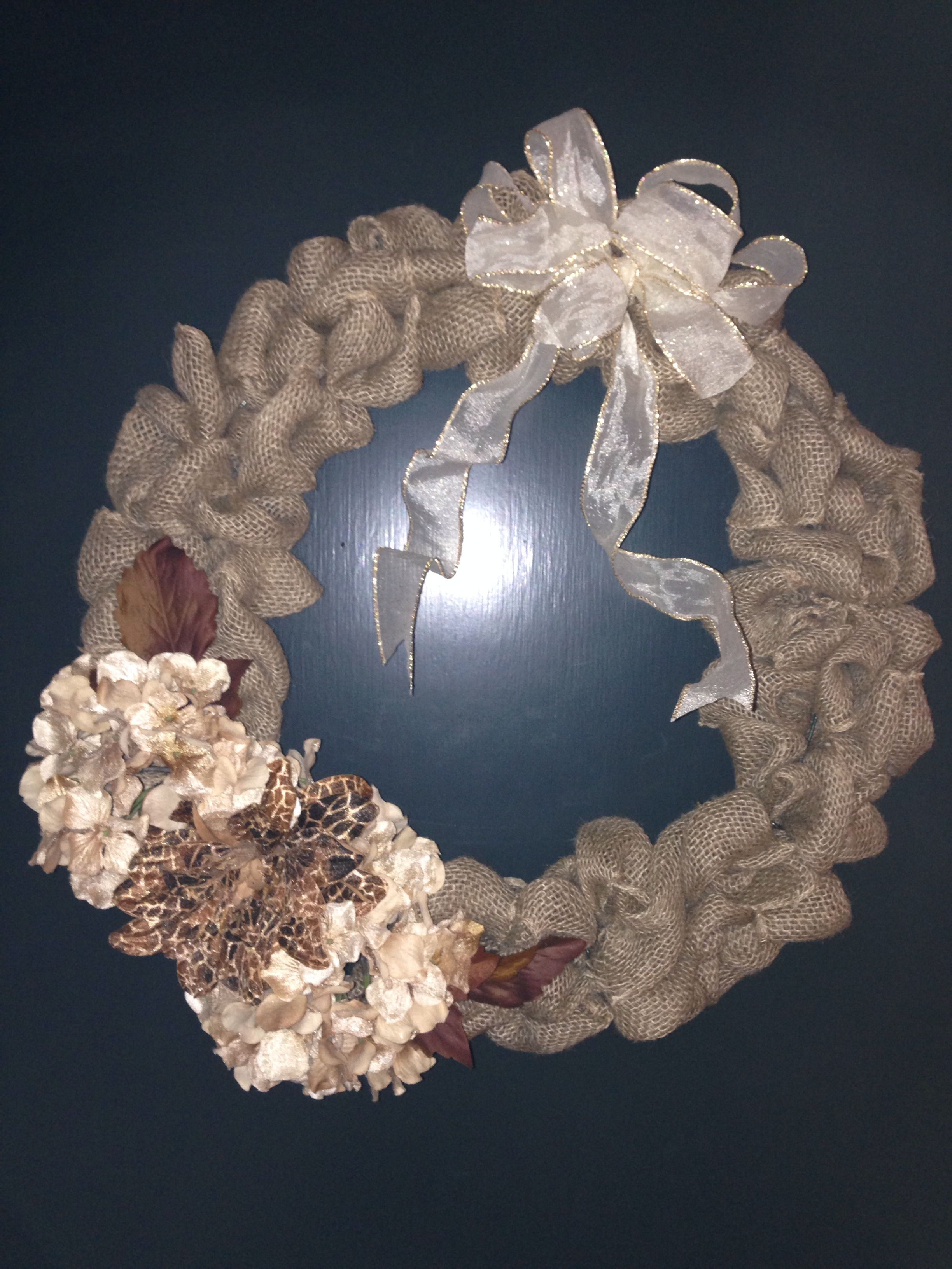 Fall burlap wreath! (Handmade by ME!)