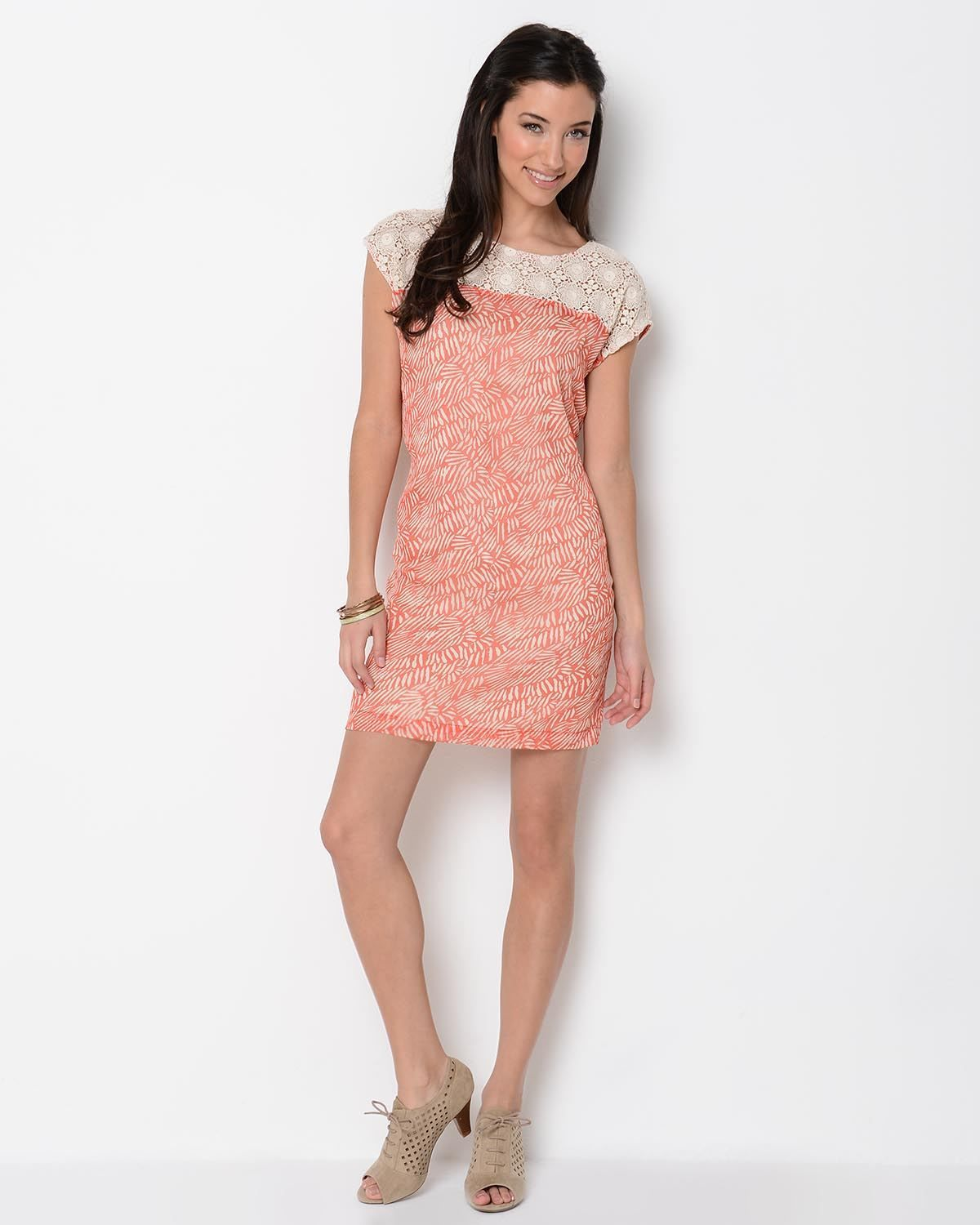Product Name Mystree Printed And Embroidered Dress at Modnique.com