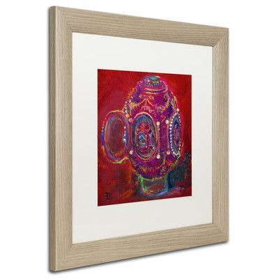 "Trademark Art ""Faberge Egg in Egg"" by Lowell S.V. Devin Matted Framed Painting Print Size: 16"" H x 16"" W x 0.5"" D"
