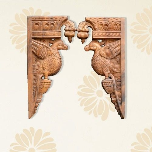 Designer Wooden Bird Wall Bracket Wooden Walls Wooden Brackets