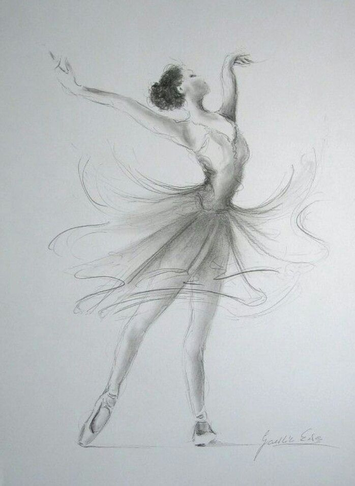 Ballerina art pinterest dessin ballerine et danseurs - Main dessin crayon ...