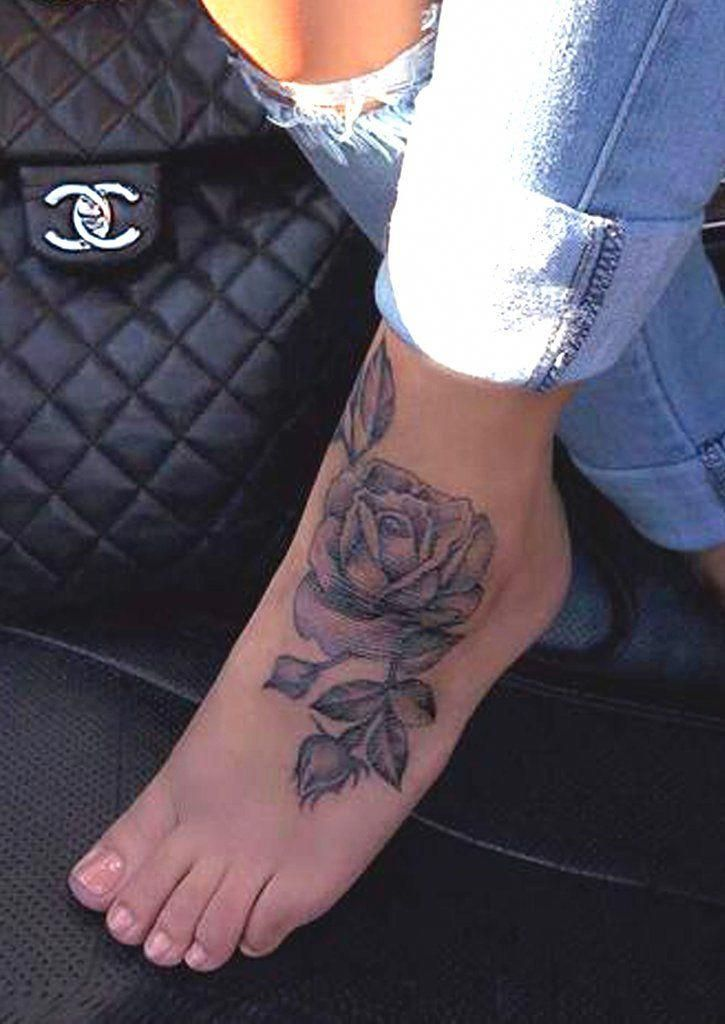 Girly tattoos on foot