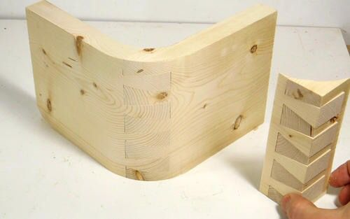 Curved dovetail