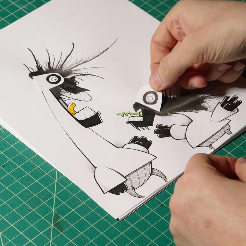 5 Steps to Creating an Ink-Blot Monster - Skillshare