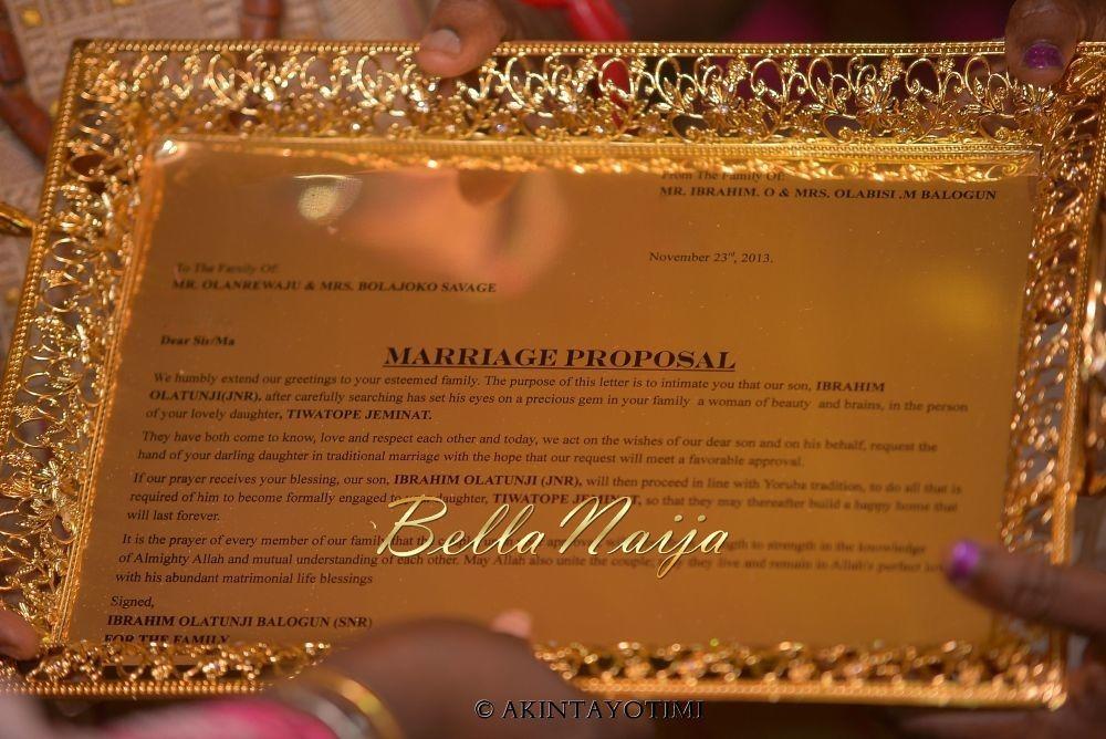 tiwa savage traditional wedding tee billz tj balogun
