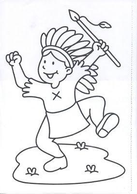Mi colección de dibujos: Indios dibujos para colorear | micros