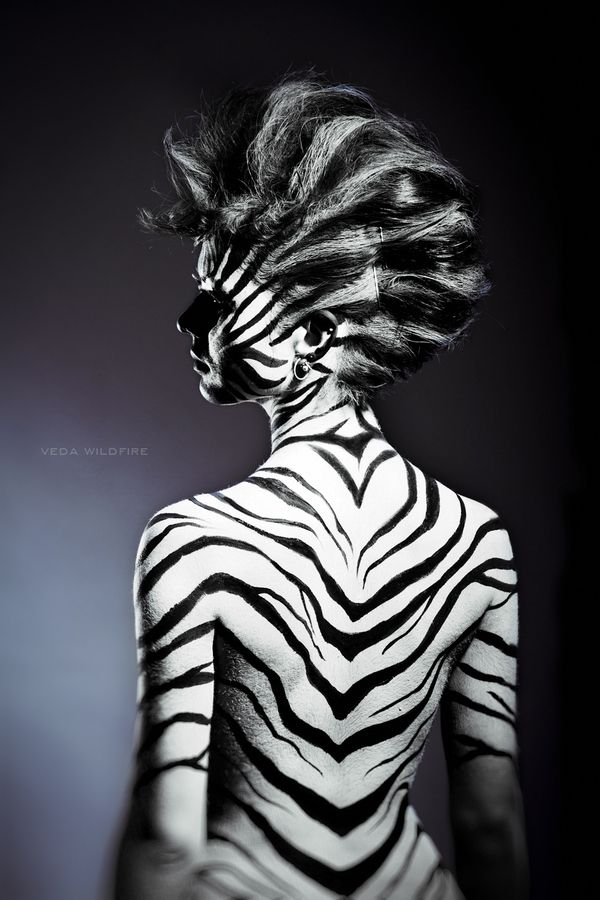 Zebra By Veda Wildfire 500px Body Art Painting Body Painting Body Art Quote