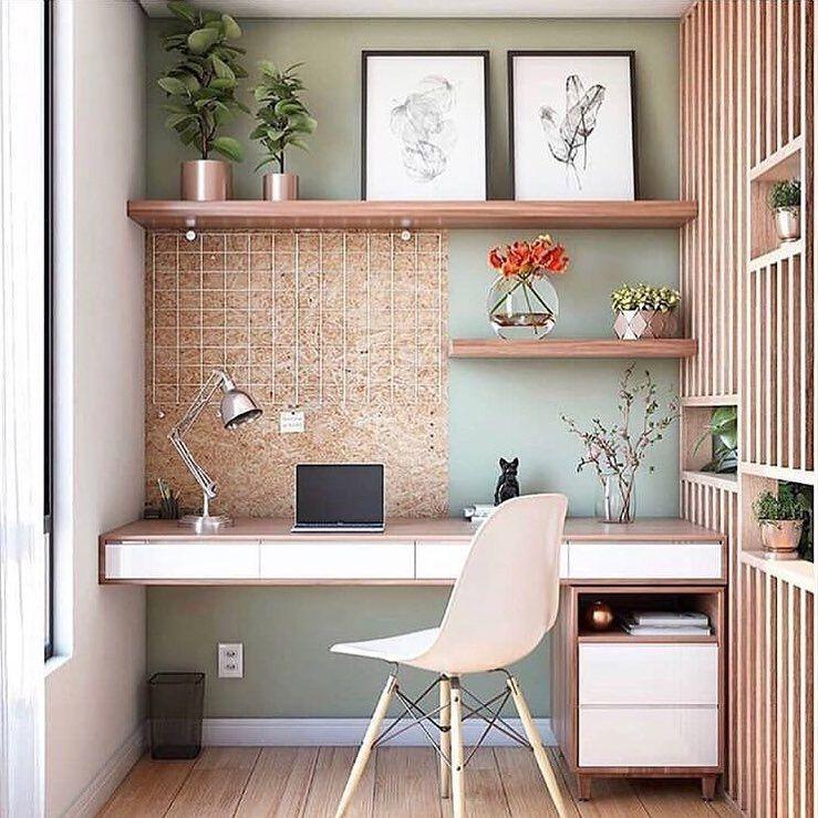Home Office Pequeno E Bem Planejado, Todo Aconchegante