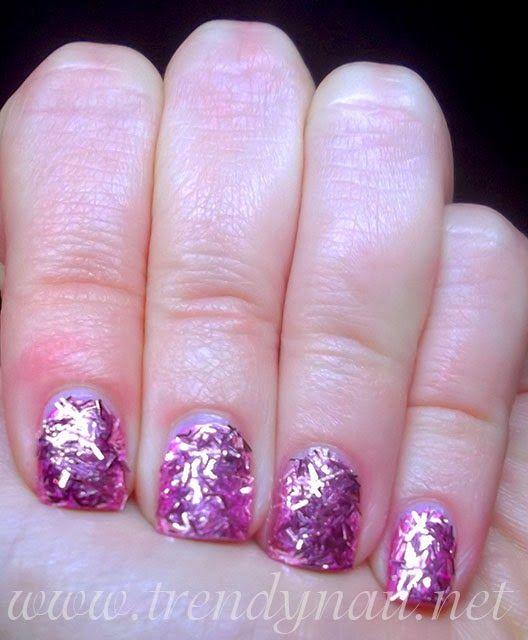 Trendy Nail: Nail art tutorial:Essence Effect Nails 3D Flitter