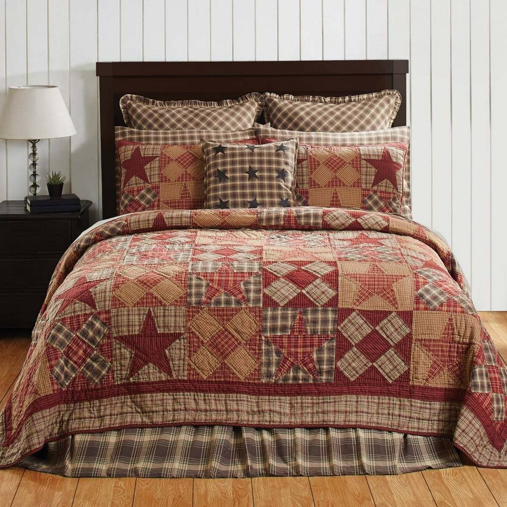 Country Quilt Trip Around the World California King Floral Patchwork Quilt