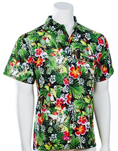 478c218f9 funny cat novelty - Funny Guy Mugs Men's Sloth Hawaiian Print Button Down  Short Sleeve Shirt, Medium -- Check this awesome product by going to the  link at ...