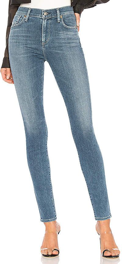 Roxanne Super High Rise Skinny. - size 24 (also in 25,26,27,28,29,30) A Gold E
