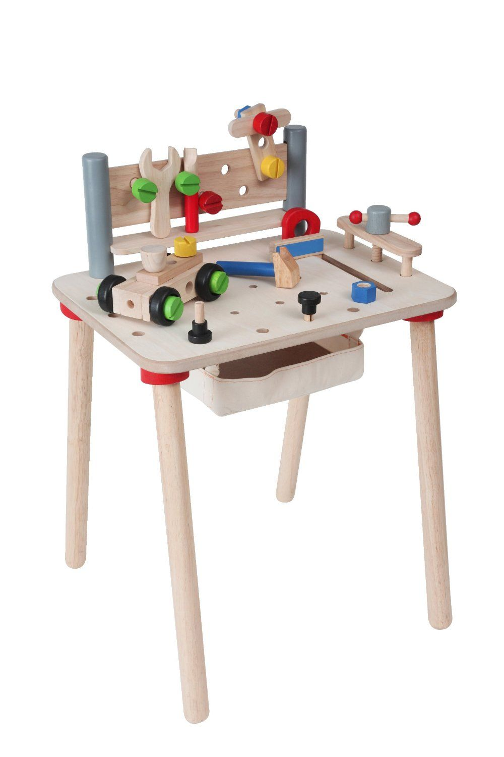 Perfect The Plan Toys Wooden Workbench Is Made From Natural Rubber Wood With  Lead Free,water Based Paints And Formaldehyde Free Glue