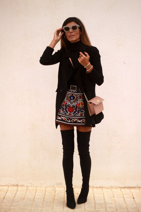 Falda Flores Ele De Media Be Style By Life Estacion Bordada wwA5rqg