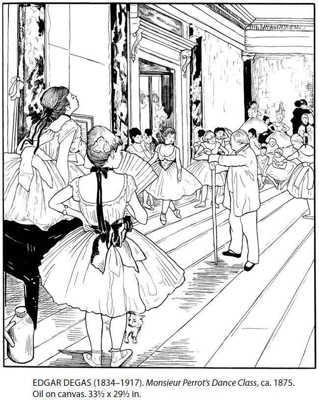 Dover Masterworks Color Your Own Degas Paintings