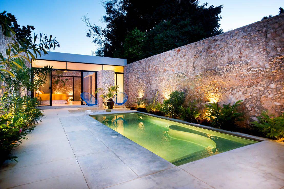 ideas para iluminar patios modernos