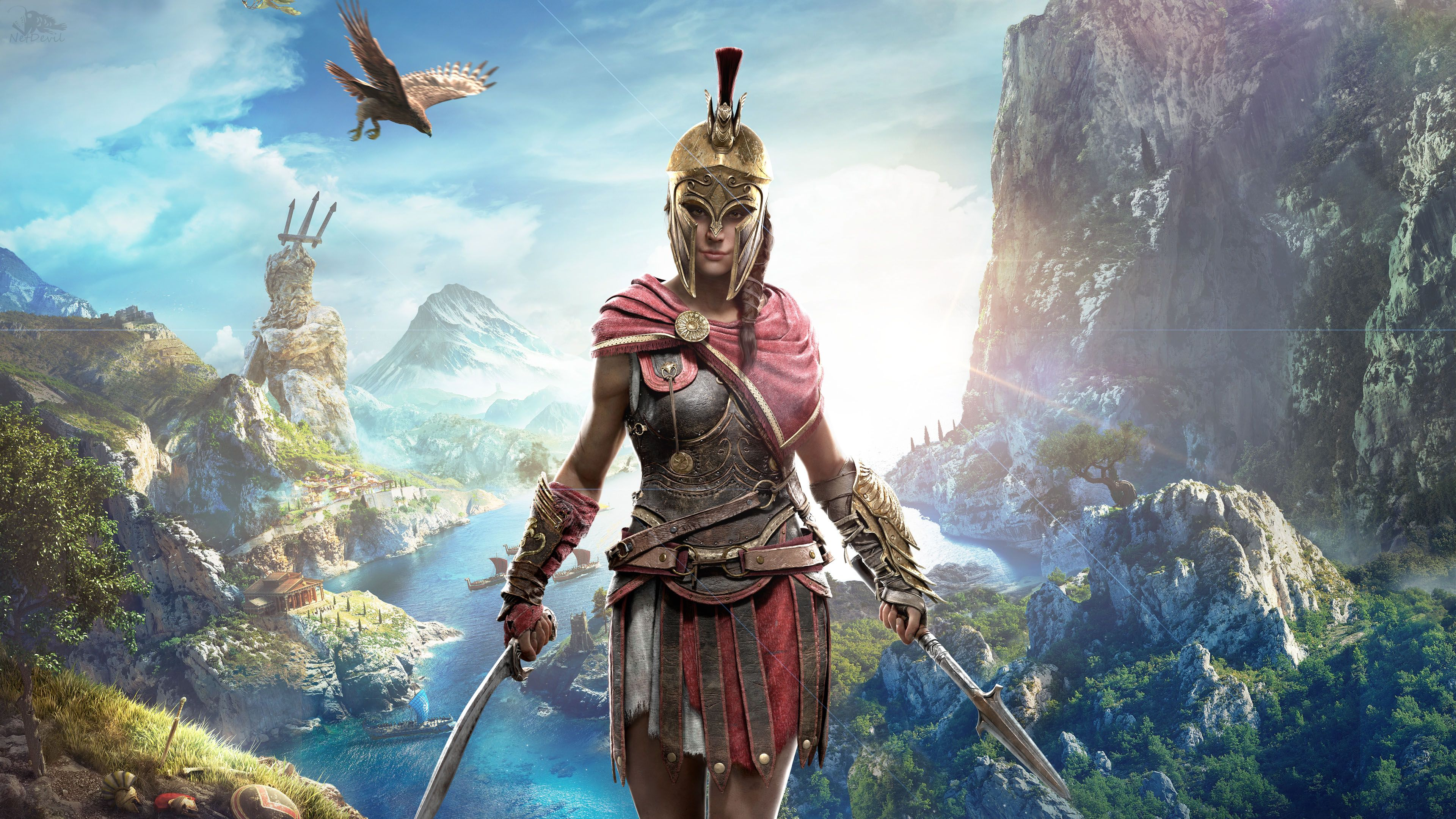 Kassandra In Assassin S Creed Odyssey 4k Assassins Creed