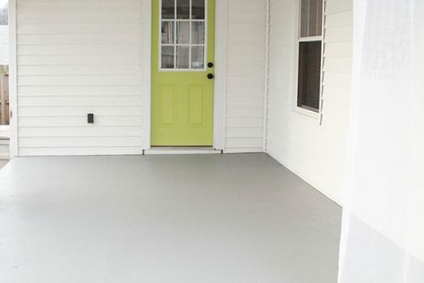 A Concrete Porch Painted In Behr S Fresh Cement Color