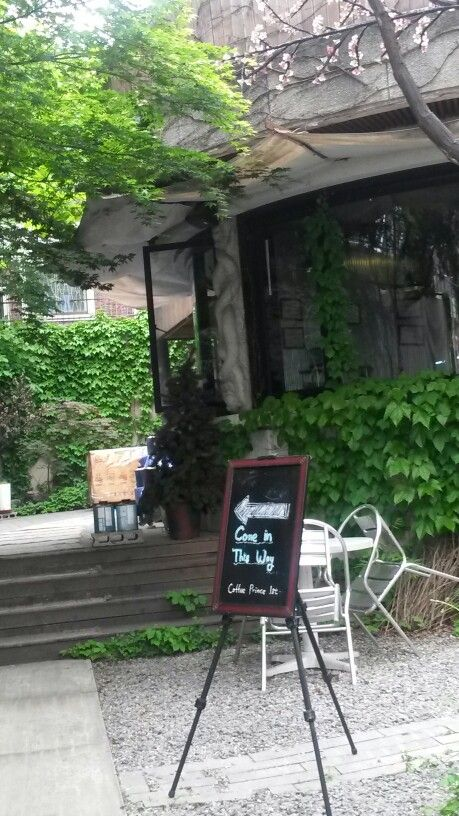 Front of coffee shop