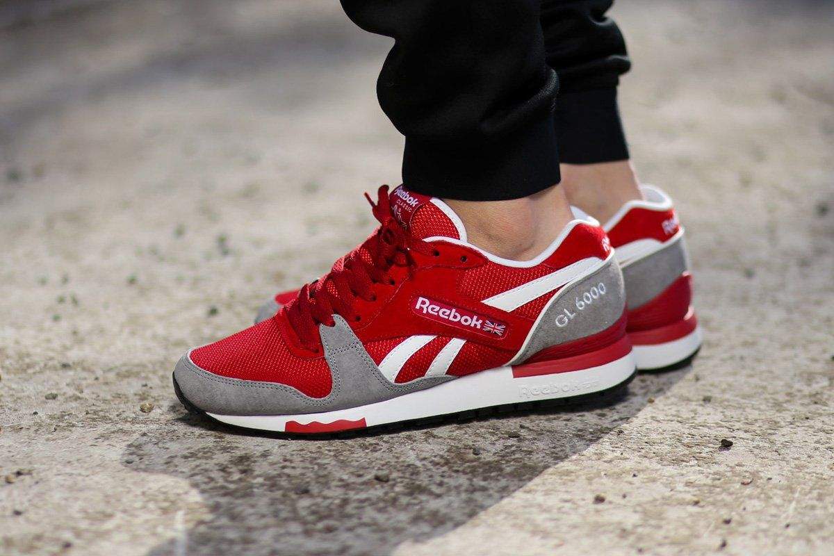 "reputable site fd8eb 056a7 Reebok GL 6000 ""Flash Red   Flat Grey"""