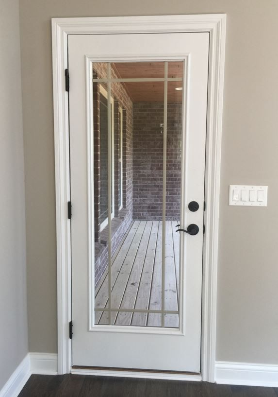 Back Door With Prairie Window Grids