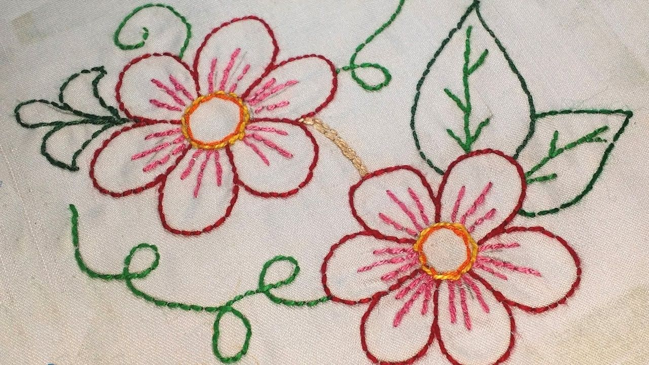 Backstitch Learn Hand Embroidery For Beginners Hand Embroidery Embroidery Patterns Hand Embroidery Designs