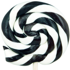 Black and White Striped Lollipops