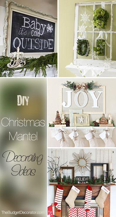 DIY Christmas Mantel Decorating Ideas Christmas mantels, DIY