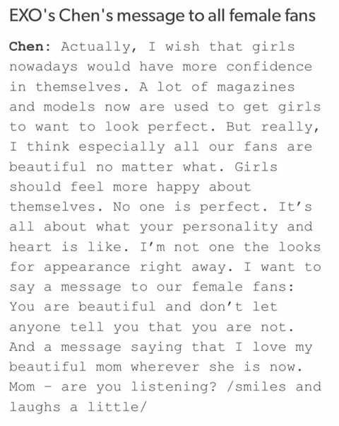 Omg Chen's soooo cuteee •3•