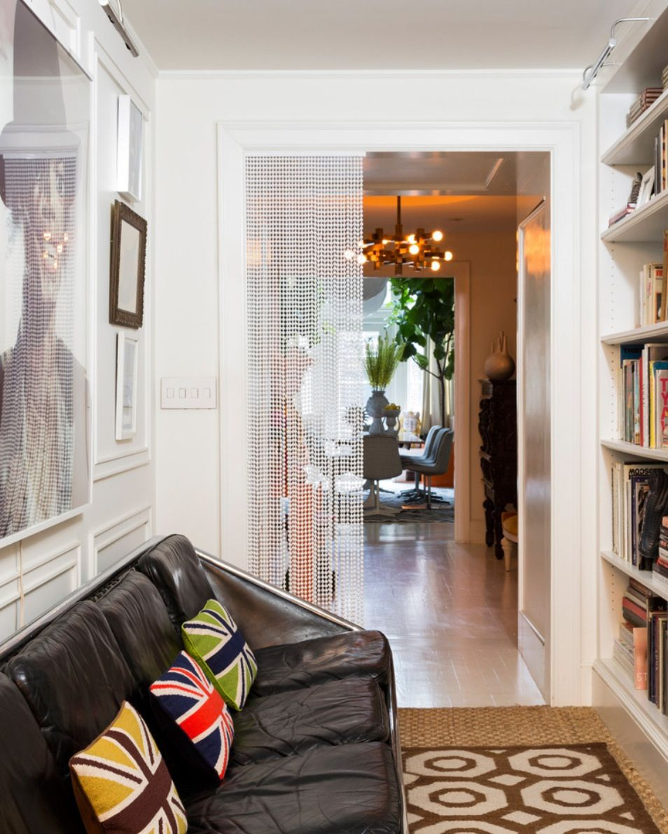 Jonathan adler and simon doonan   home hallway photo galleries black leather couches also homey pinterest couch rh