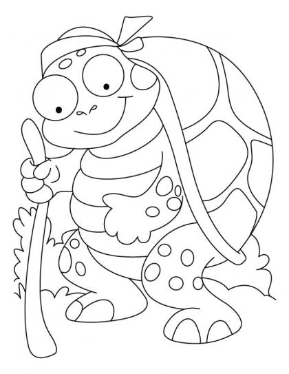 An old tortoise coloring pages | Download Free An old tortoise ...