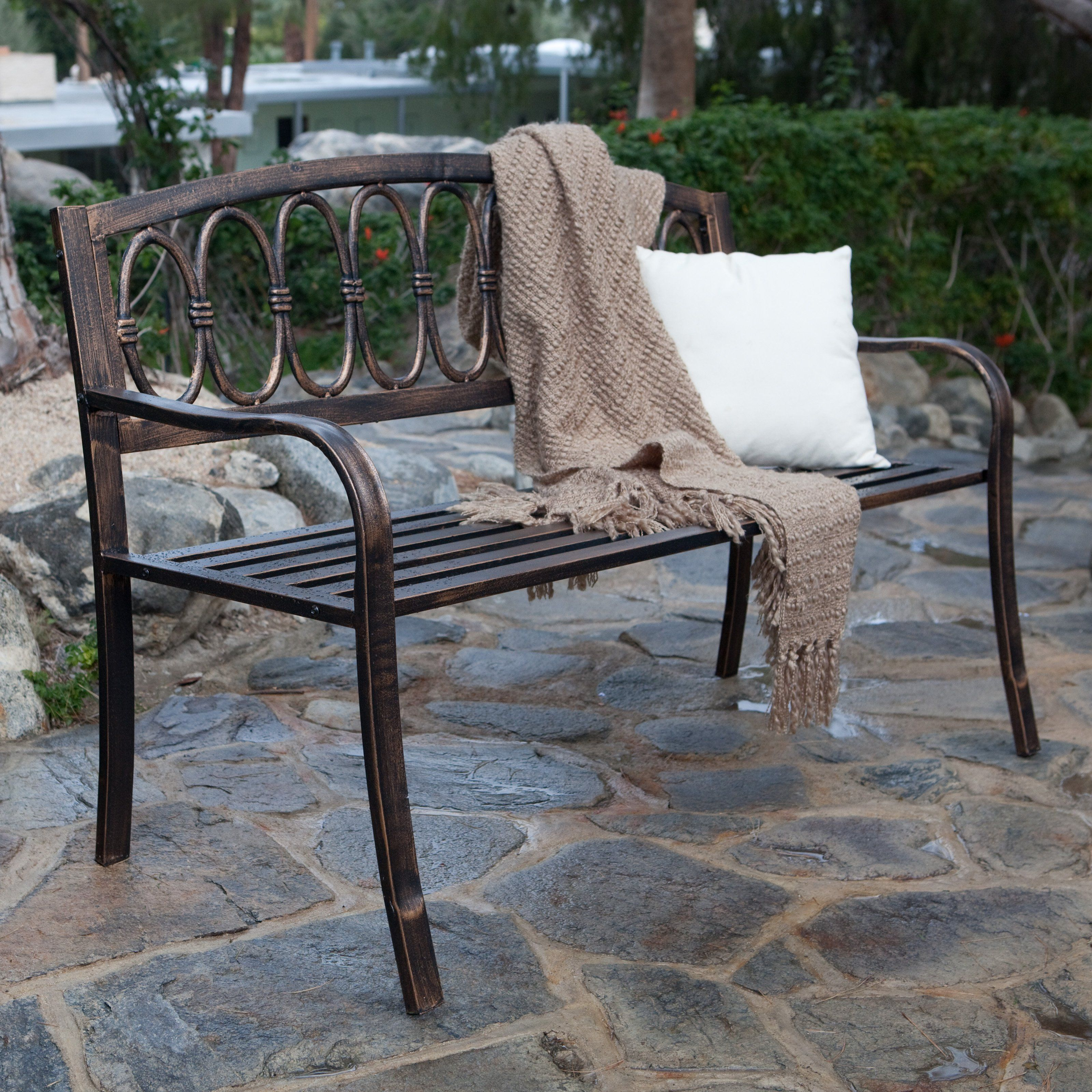 Have To Have It. Verona 4-ft. Curved Back Garden Bench