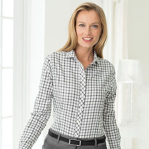 302520cf Red House Ladies Tricolor Check Non-Iron Shirt-RH75 | Red House ...