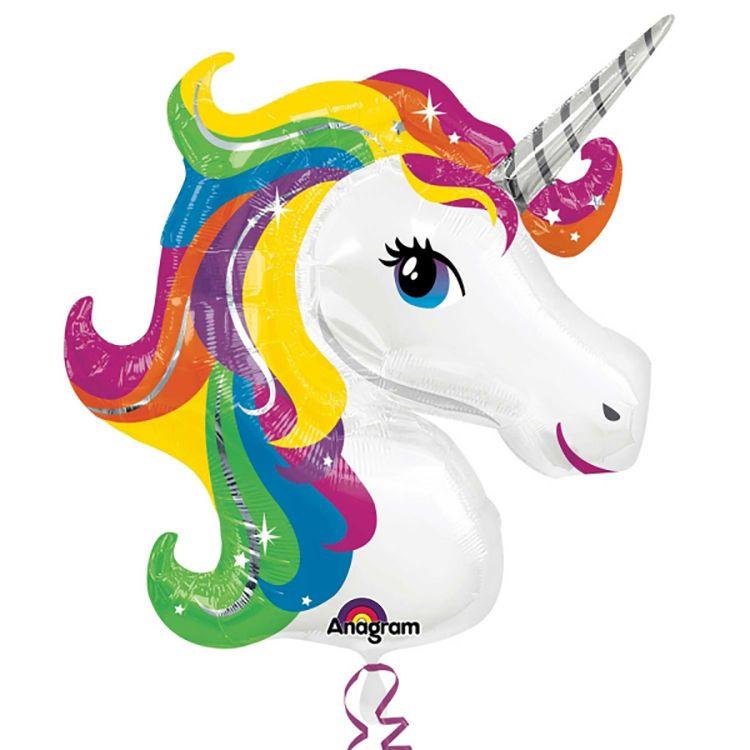 Rainbow Unicorn Supershape Foil Balloon