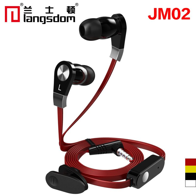 Original Langsdom Jm02 In Ear Stereo Earphone 3 Colors Bass Head Phone Hifi Earbuds With Mic For Smart Phone Mp3 Mp4 Free Earbuds With Mic Earbuds Earphone